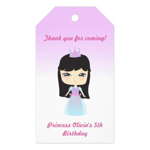 Cute Princess Birthday Gift Tags Princess Birthday Party