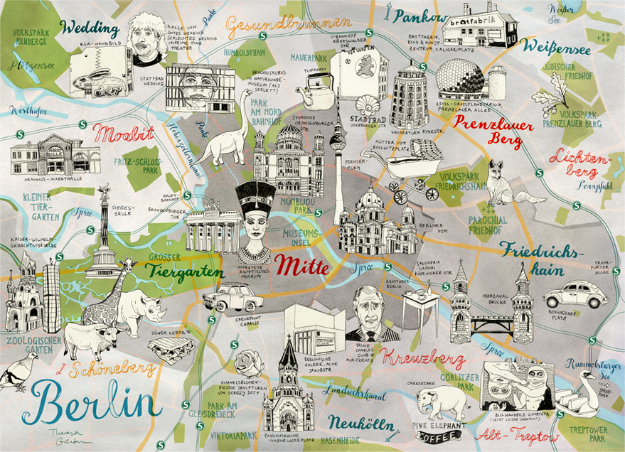 Tourist Map Of Berlin Germany.Berlin Maps Theresa Grieben Places To Go In 2019