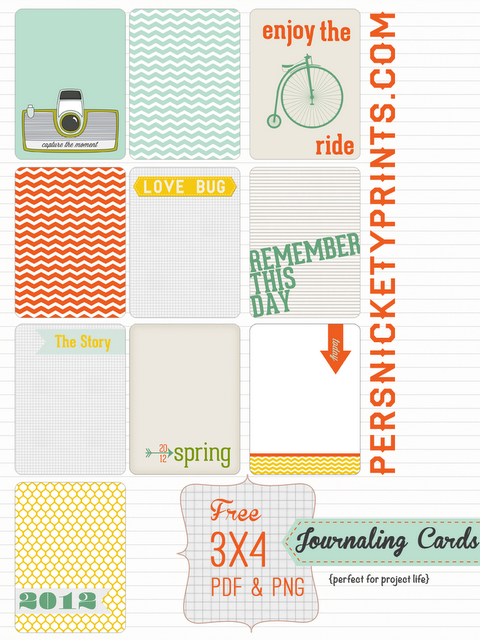 10 Free 3x4 Journal Cards | Adorable!