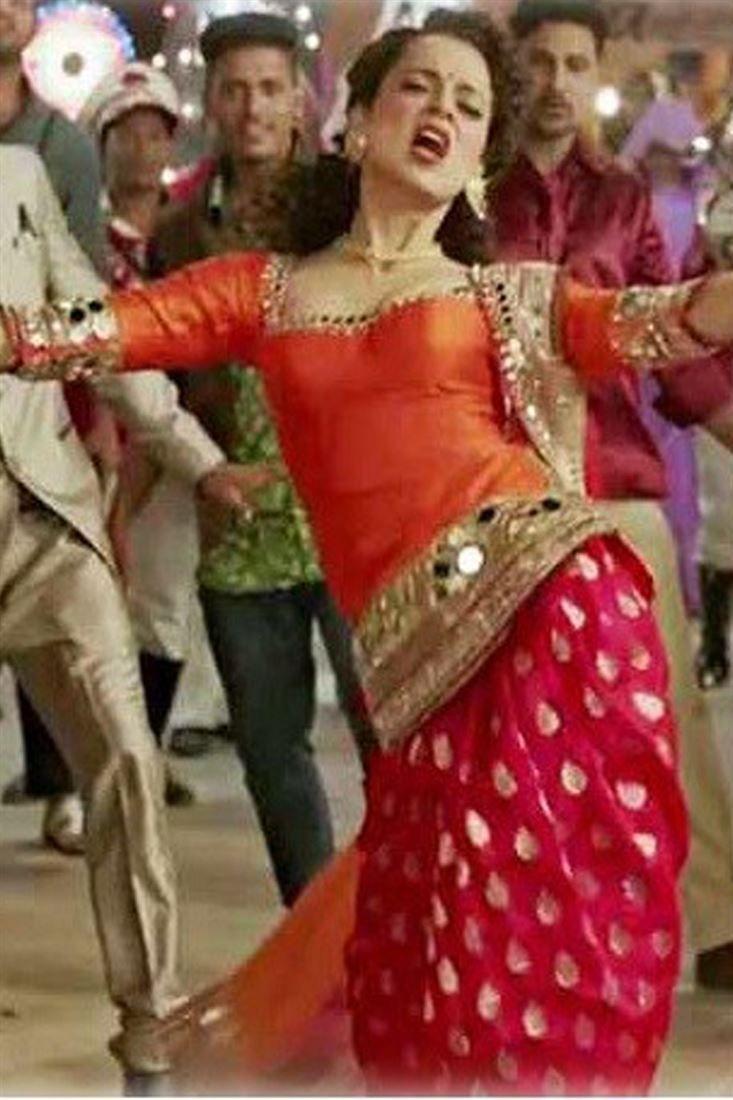 Kangana Ranaut Orange Row Silk Salwar Suit From Tanu Weds Manu Returns Buy Kangana Ra Bollywood Suits Tassels Fashion Clothing Anarkali Suits Online Shopping