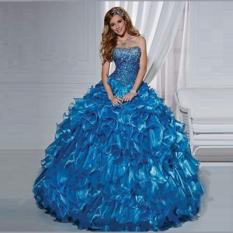 5628f74d72 Fashion 2015 Royal Blue Quinceanera ᐃ Dresses Ball Gown ④ With Corset Beaded  Ruffles Cheap Quinceanera Gowns Debutante Gowns Fashion 2015 Royal Blue ...
