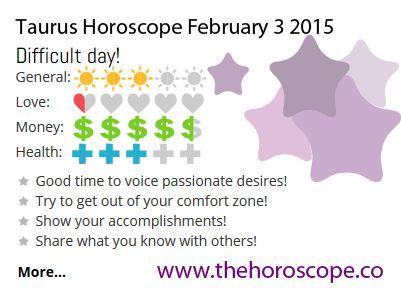 taurus 3 february horoscope
