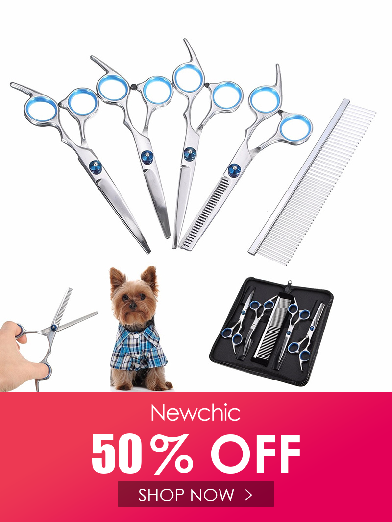 Hair Grooming Scissors Stainless Steel Pet Dog Cat Hairdressing Shears Kit Hairdressing Shears Cat Cleaning Pet Dogs
