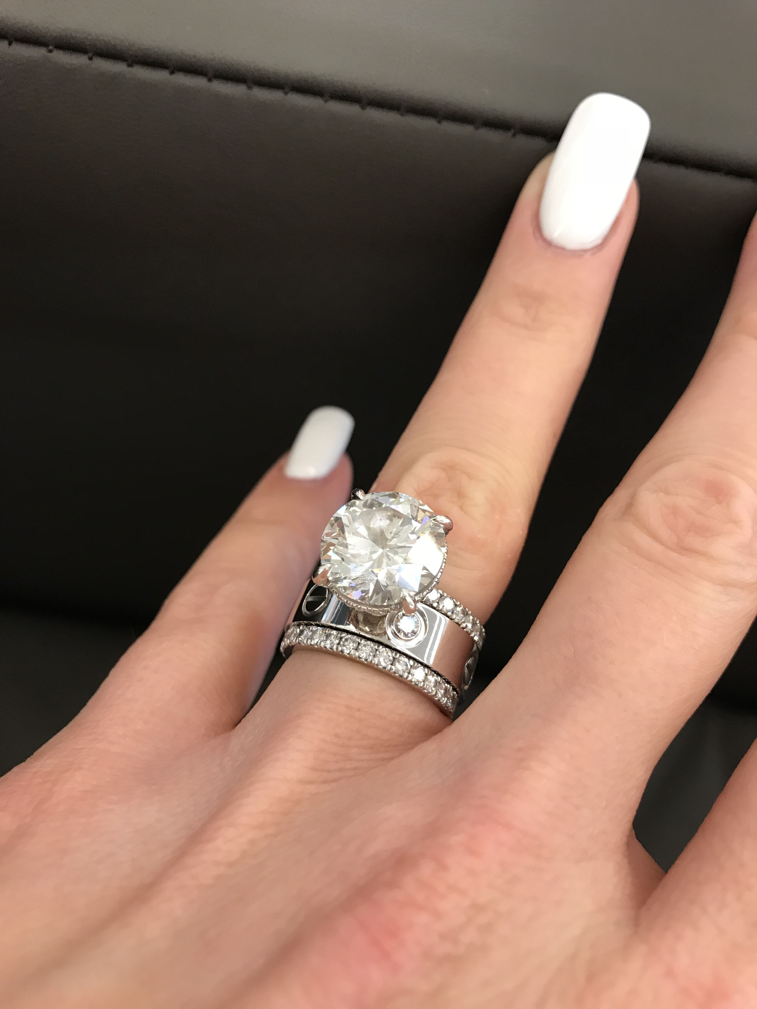 Cartier Love Ring White Gold With 3 Diamonds Bague Bague