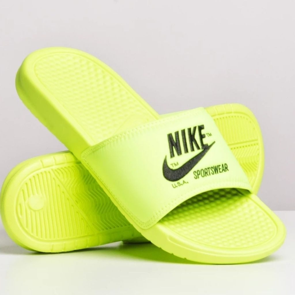 Neon nike shoes, Neon sandals
