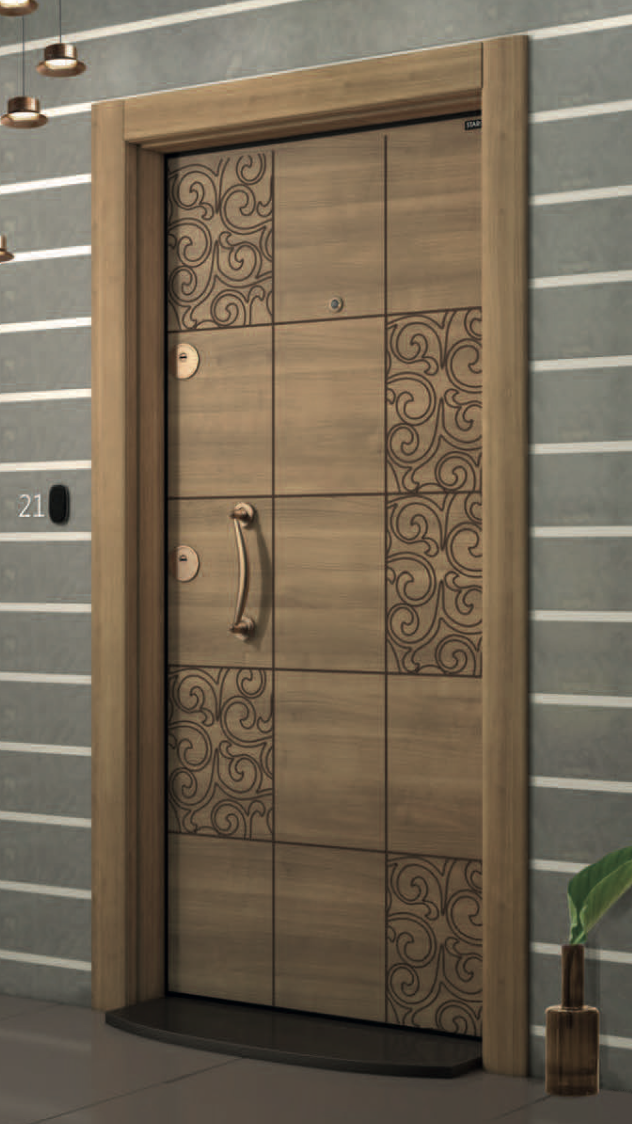 Pin By Bernd Fischer On Digital Wooden Front Door Design Wooden Main Door Design Door Design Interior