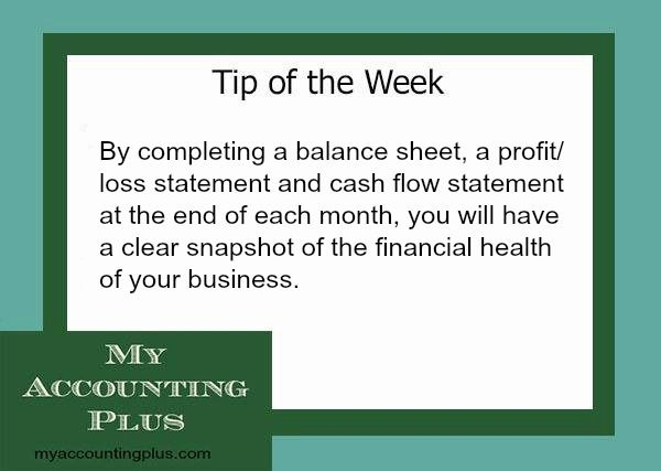 By completing a balance sheet, a profit loss statement and cash - profit and loss staement