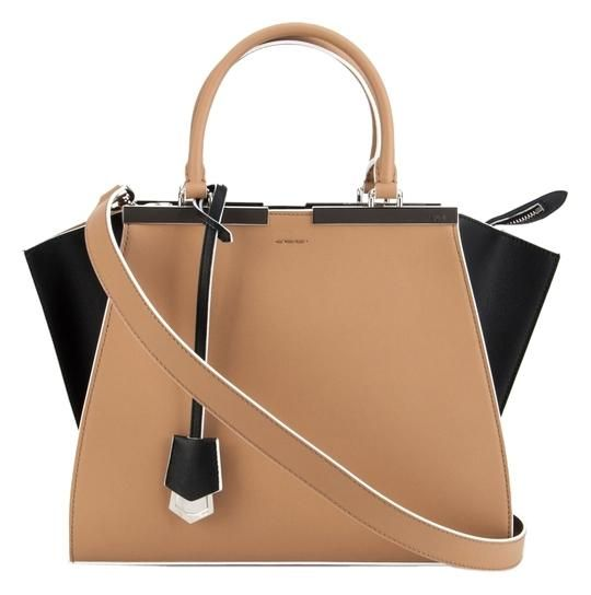 8414c9ded33c Get one of the hottest styles of the season! The Fendi 3jours Tricolor Leather  Black Nude Tote Bag is a top 10 member favorite on Tradesy.