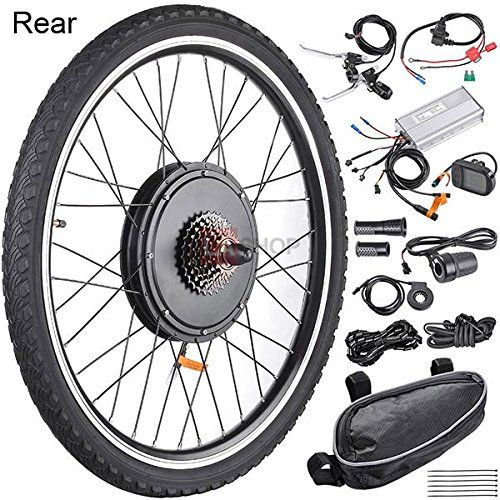 Megabrand 48v 1kw 26in Rear Wheel Lcd Electric Bicycle Motor Kit Want Additional Info Click On Electric Bike Kits Electric Bicycle Electric Bike Conversion