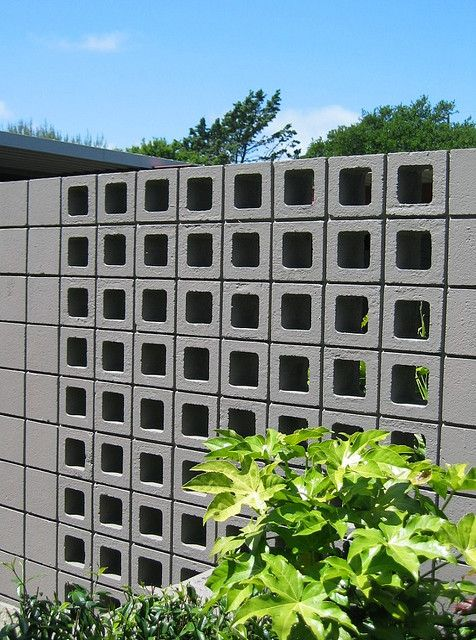 Eichler X 100 Screen Block Screen Block Concrete Block Walls Concrete Blocks