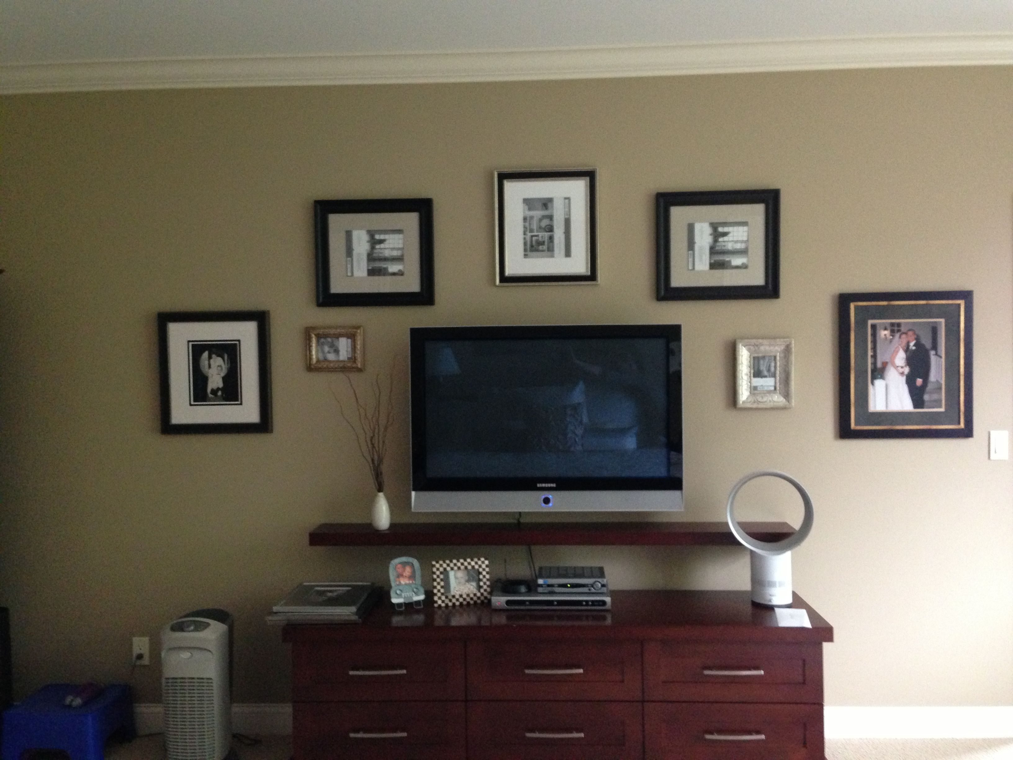 -bishop interiors- Gallery wall, tv wall, frames
