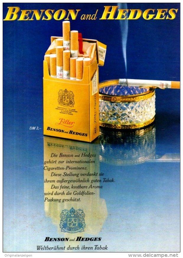 Original-Werbung/ Anzeige 1969 - BENSON AND HEDGES CIGARETTEN - ca. 180 x 240 mm