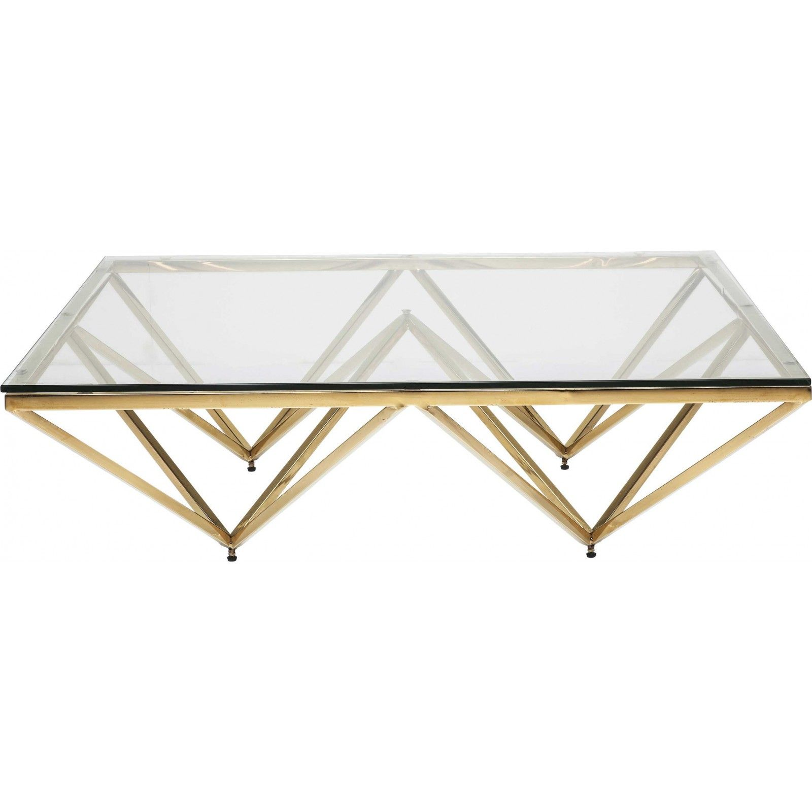Table Basse Contemporaine Dore Network Kare Design Table Basse Verre Table Basse Carree En Verre Table Basse