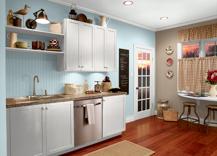 This is the project i created on i used these colors french pastry mq2 40 ethereal - Behr kitchen colors ...