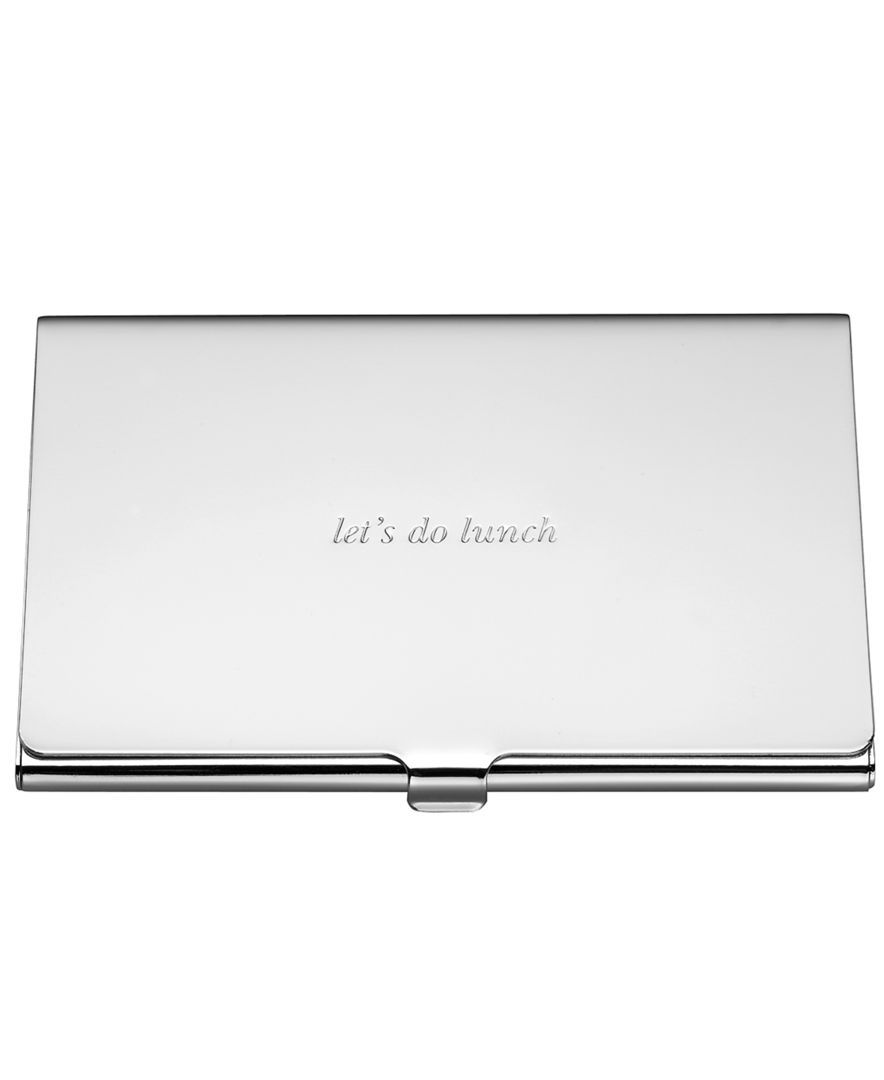 Kate Spade New York Silver Street Business Card Holder Products
