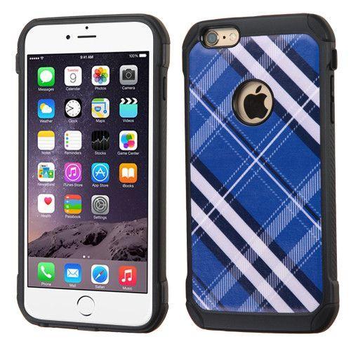 MYBAT Dual Armor iPhone 6 Plus / 6s Plus Case - Blue Diagonal Plaid