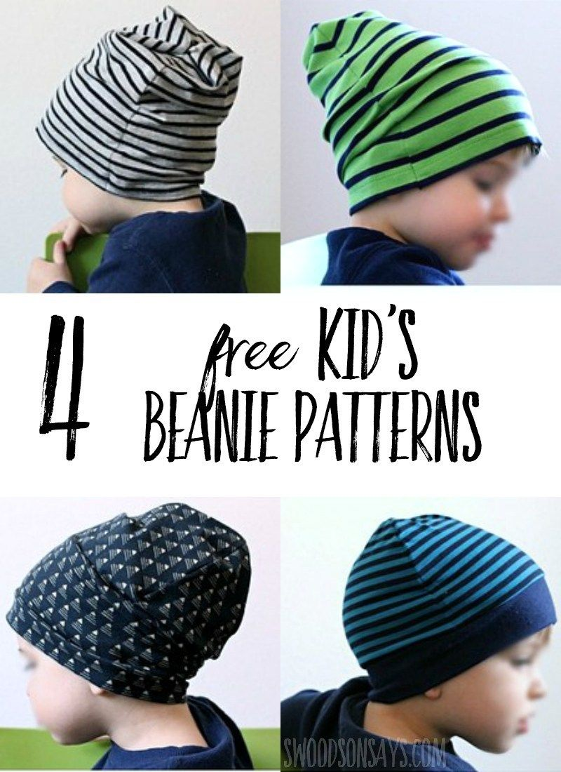 4 Free Knit Beanie Hat Sewing Patterns - Tested!