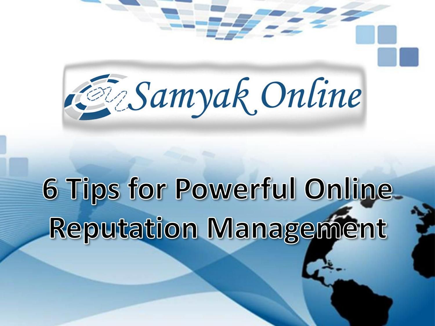 umbers of companies offer ORM services in India but you must hire the ORM experts only from the top ranking company. Samyak Online in New Delhi has years' experience in providing outstanding ORM servic