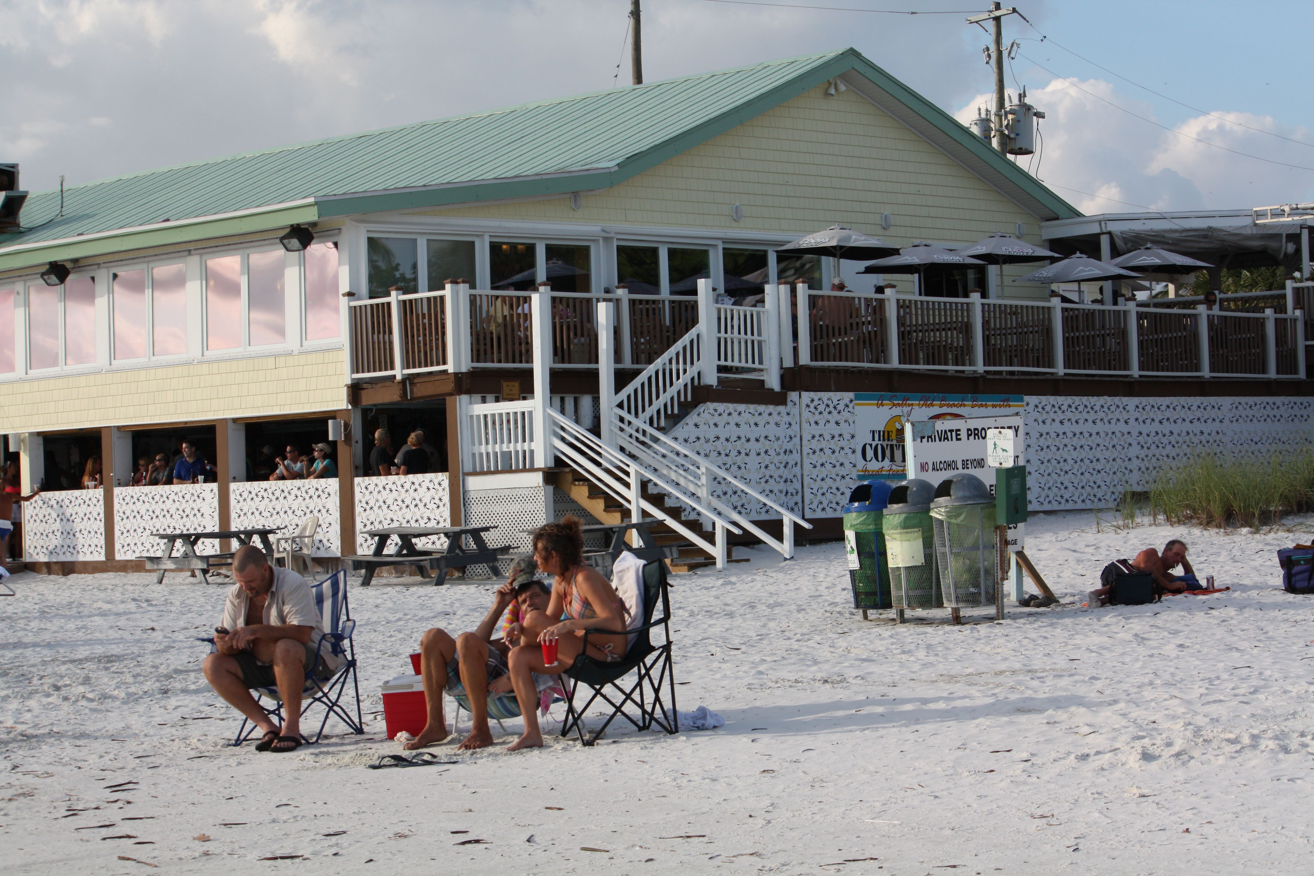 good eats fantastic view at sunset the cottage beach bar rh pinterest com the cottage fort myers beach happy hour widgeon cottage fort myers beach