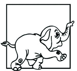Free Animals Elephant Printable Coloring Pages For Kids