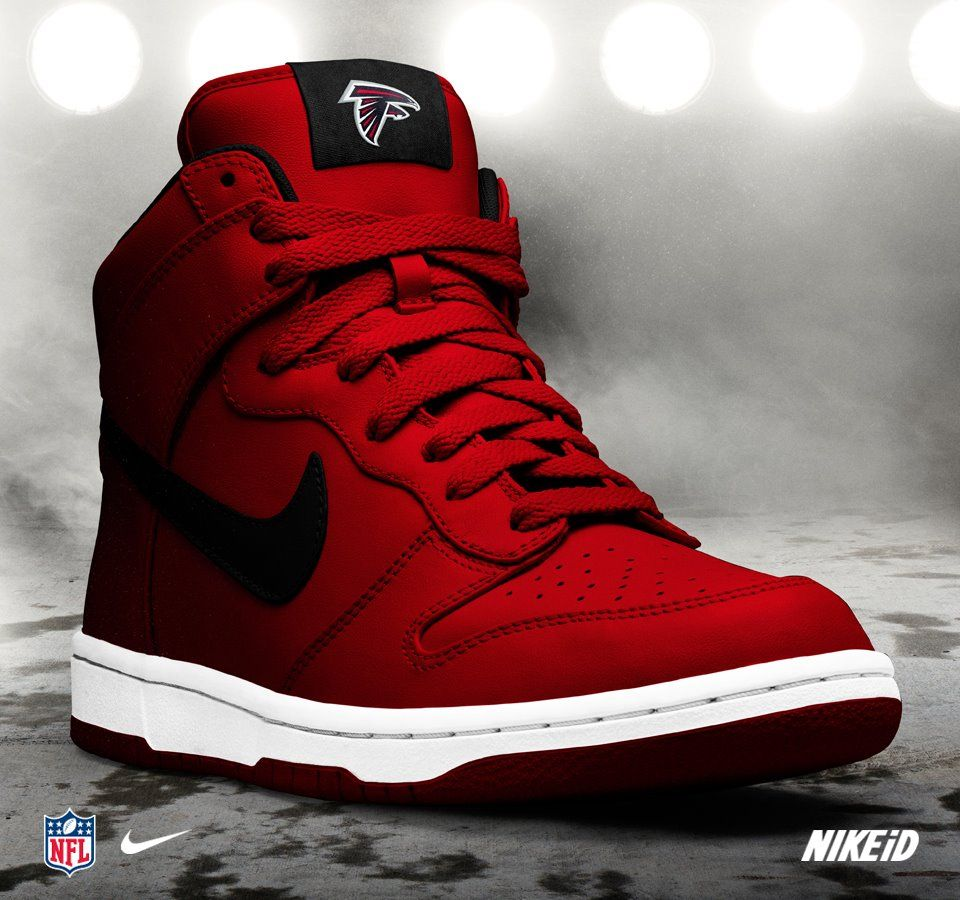 76971f5e7cd7 Nike iD Custom NFL Atlanta Falcons Dunk Hi