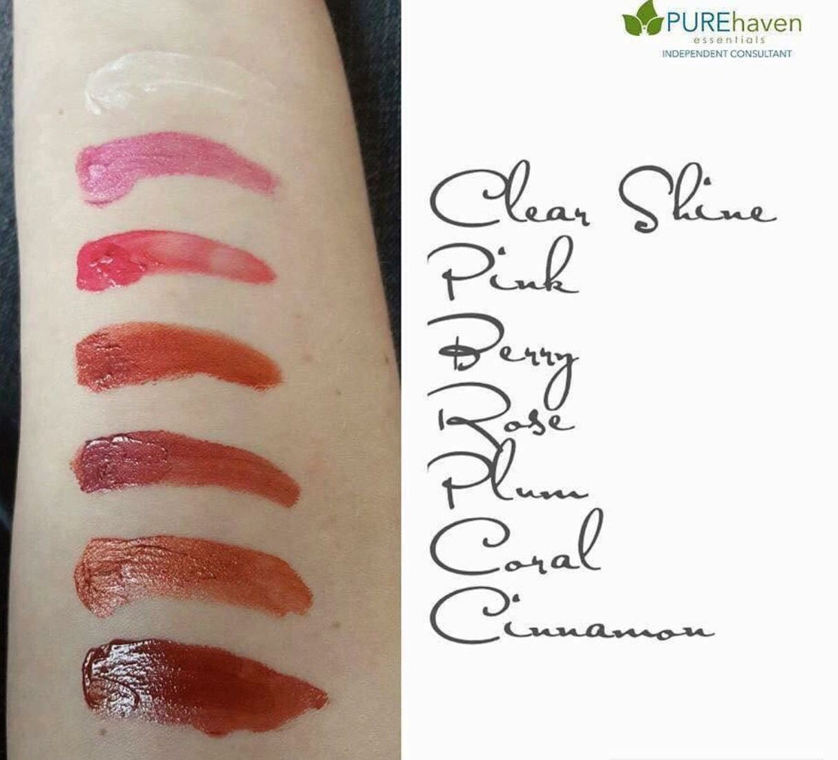 Shades of the lipgloss from pure haven essentials! Non toxic ! No ...