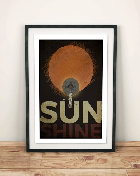 Sunshine Inspired movie poster print Unique movie by InkyGorilla
