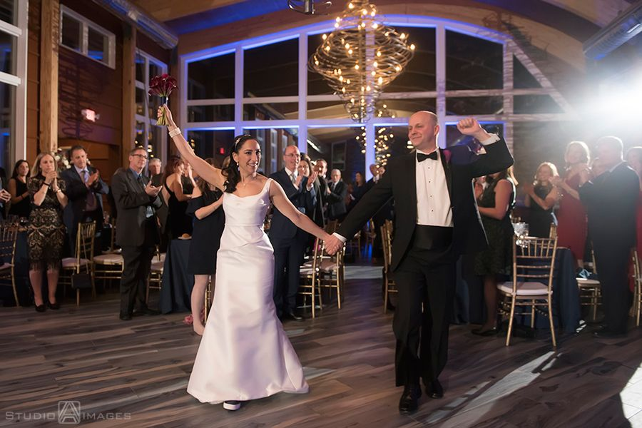 Bride And Groom Dancing Winter Wedding At Stone House At