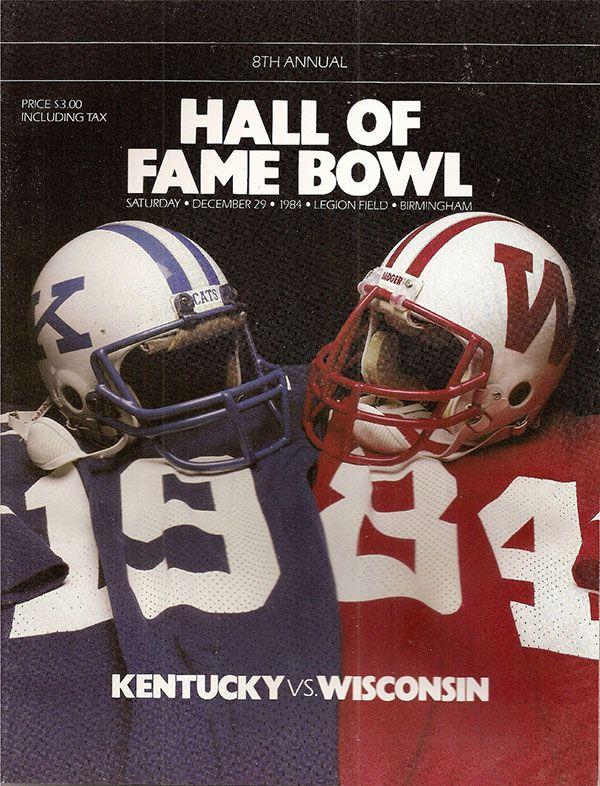 NCAA Bowl Game Program: 1984 Hall of Fame Classic ...