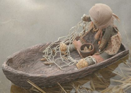 """Coleção bonecas artesanais.  Mestres Fair - handmade.  Compre uma imagem Boneca """"pescadora"""".  Handmade.  Multicolorido, Boneca do russo"""