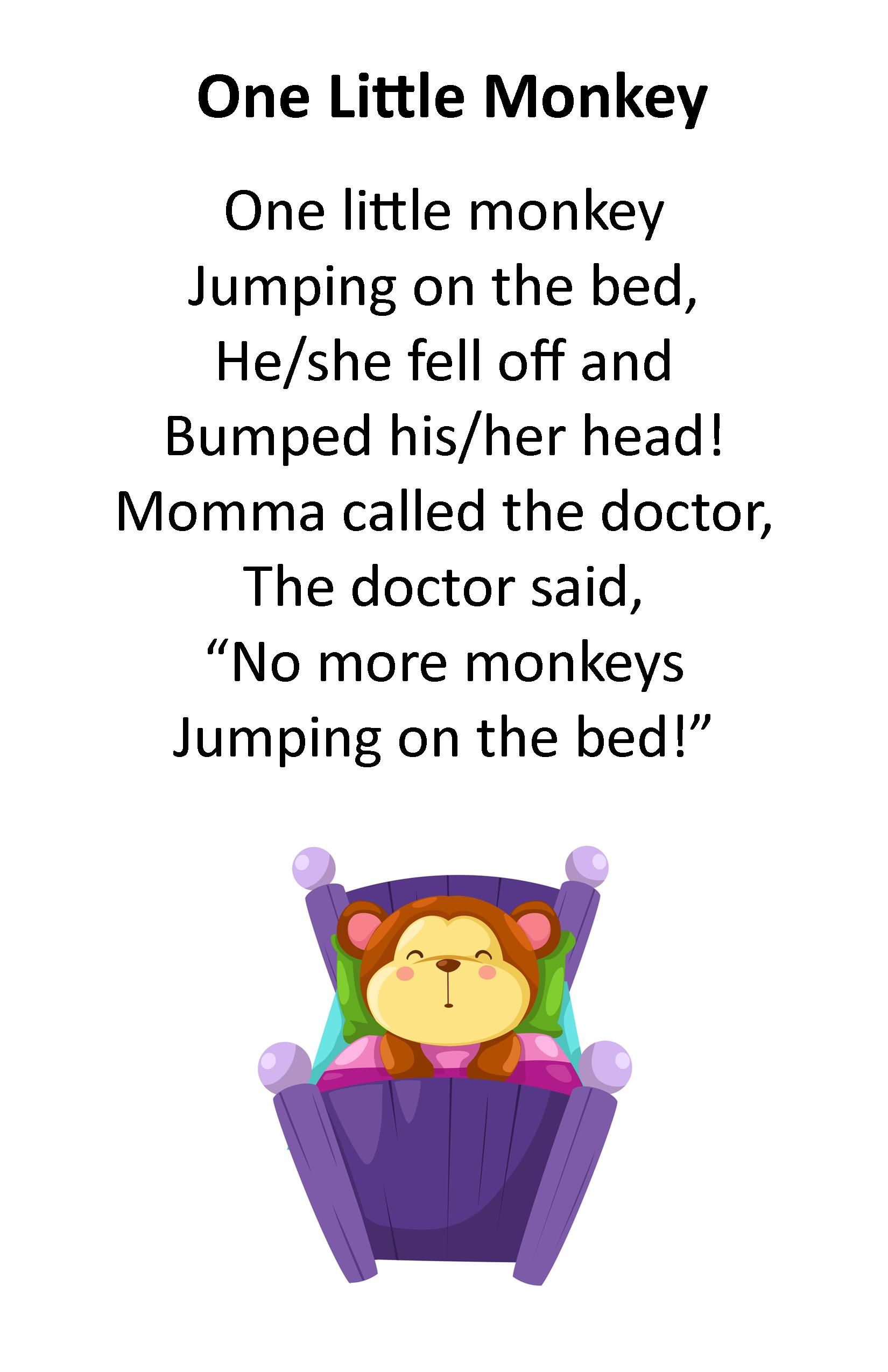 Itty Bitty Rhyme One Little Monkey