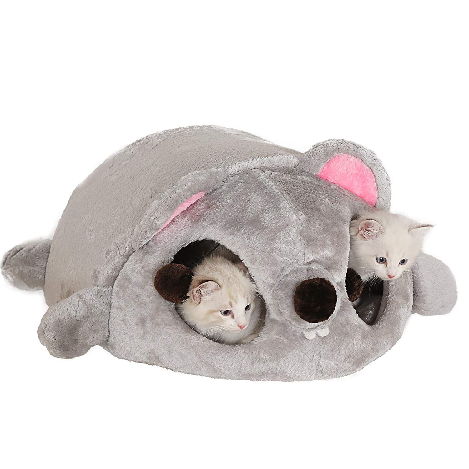 Xstiger Big Plush Cuddle Cave for Cats and Dogs Waterproof