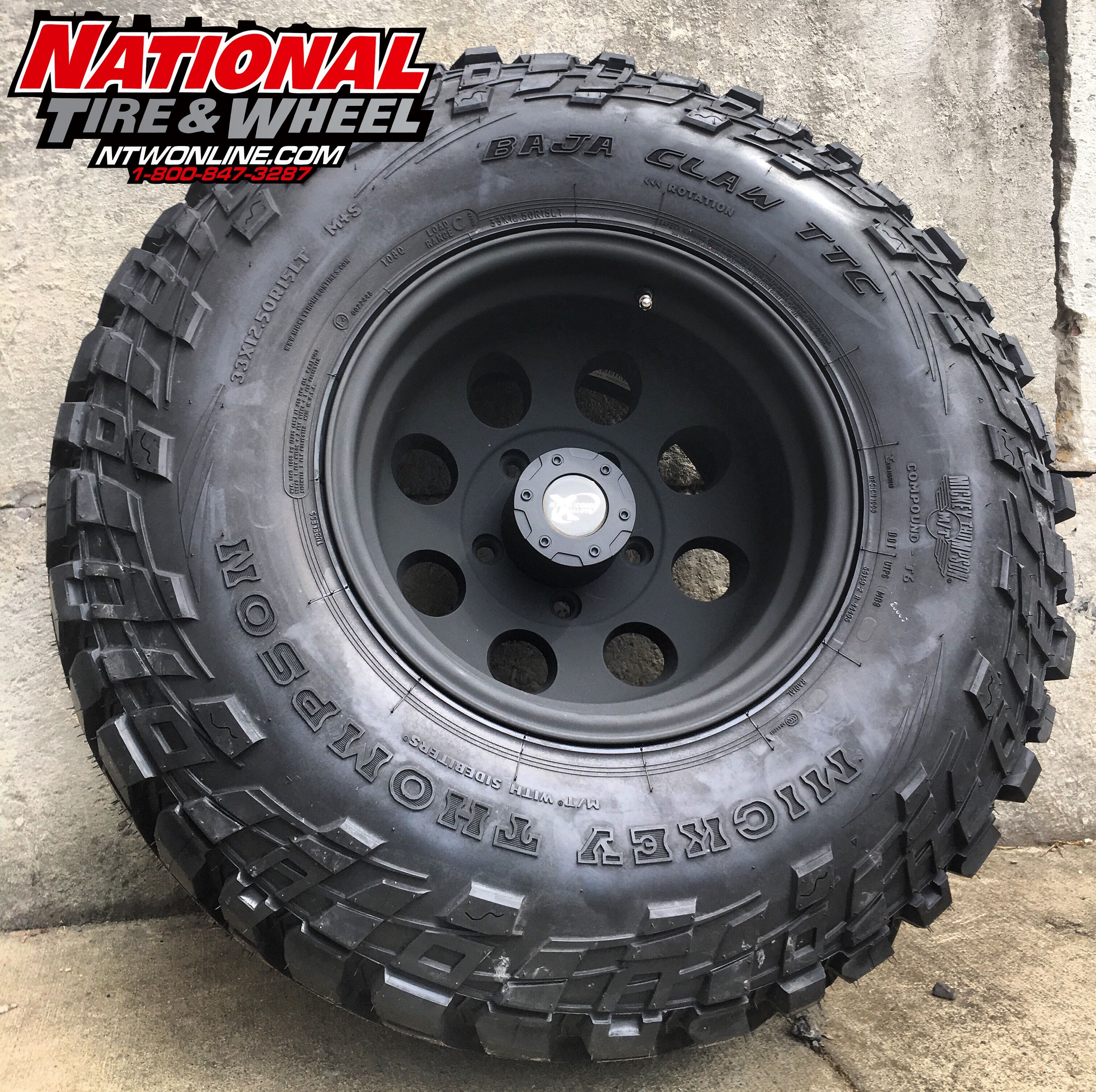 15x10 Pro Comp Wheel Type 7069 Mounted Up To A 33x12 50r15 Mickey Thompson Baja Claw Ttc With Sidebiters