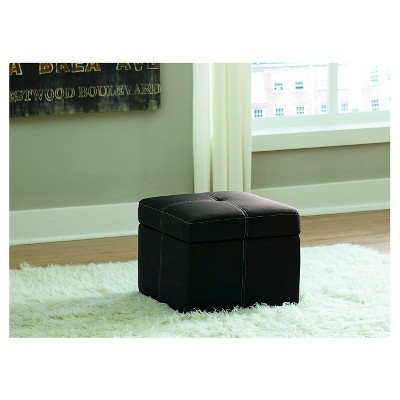 Incredible Delaney Small Storage Ottoman Black Dorel Home Products Onthecornerstone Fun Painted Chair Ideas Images Onthecornerstoneorg