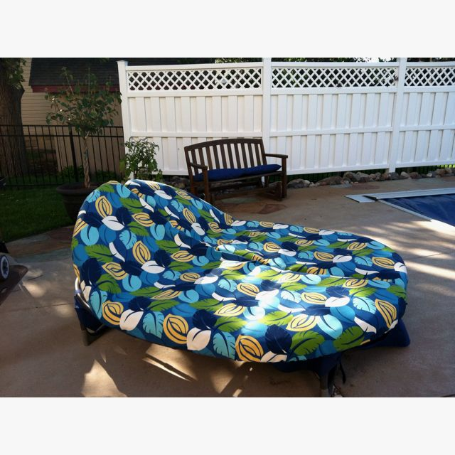 DIY   Orbit Lounger Recovered With Outdoor Fabric. Gunna Have To Get  Cushions Custom Made