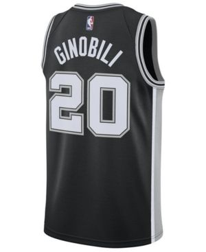 19be912f3 Nike Men s Manu Ginobili San Antonio Spurs Icon Swingman Jersey - Black XXL