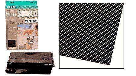 24 X 48 Static Cling Dot Matrix Window Film Black By C
