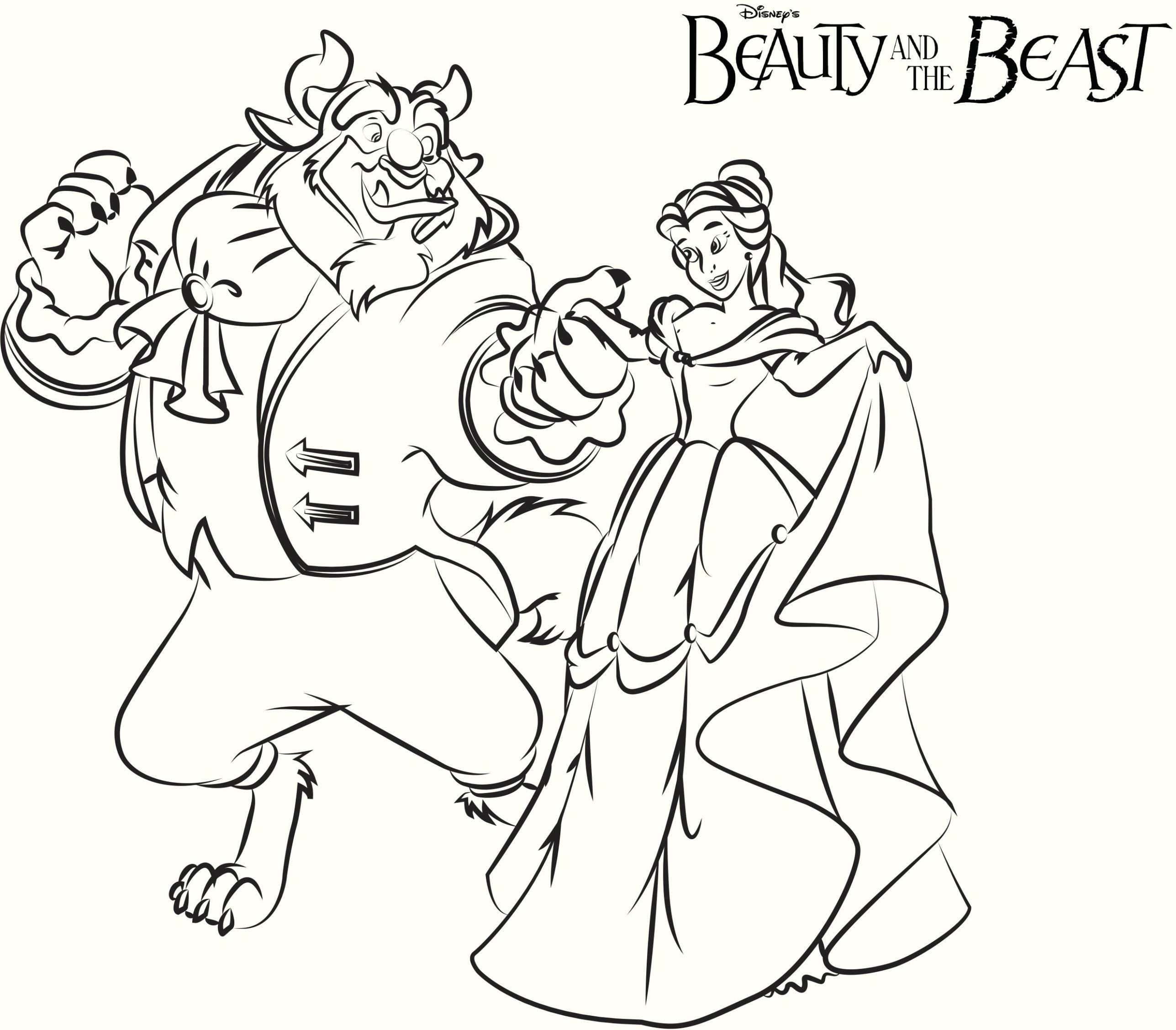 Printable Beauty and The Beast Coloring Pages | Education Coloring ...