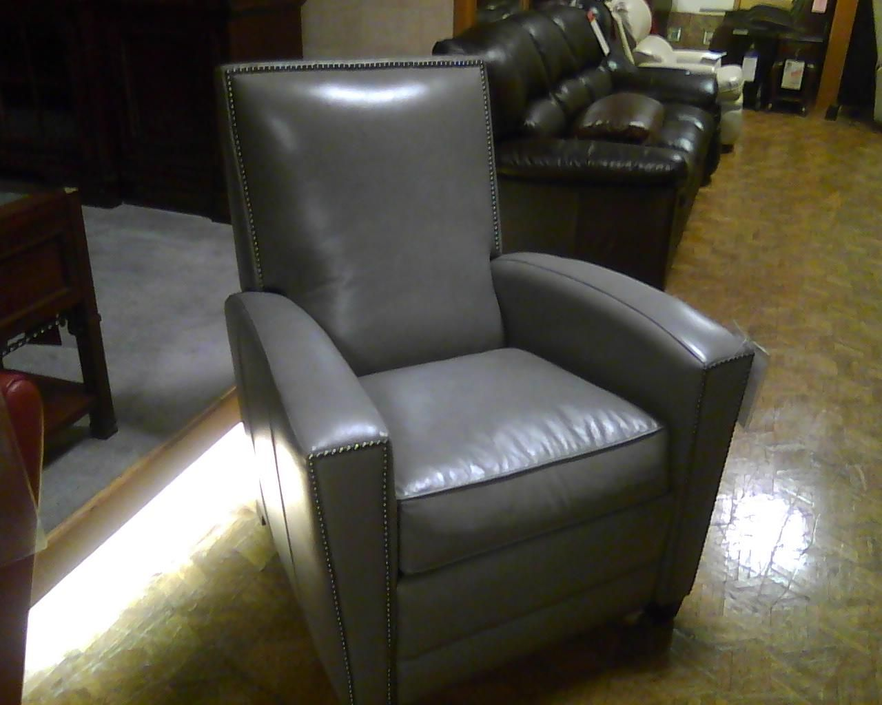 Grey Bradington Young Leather Recliner From Dillards