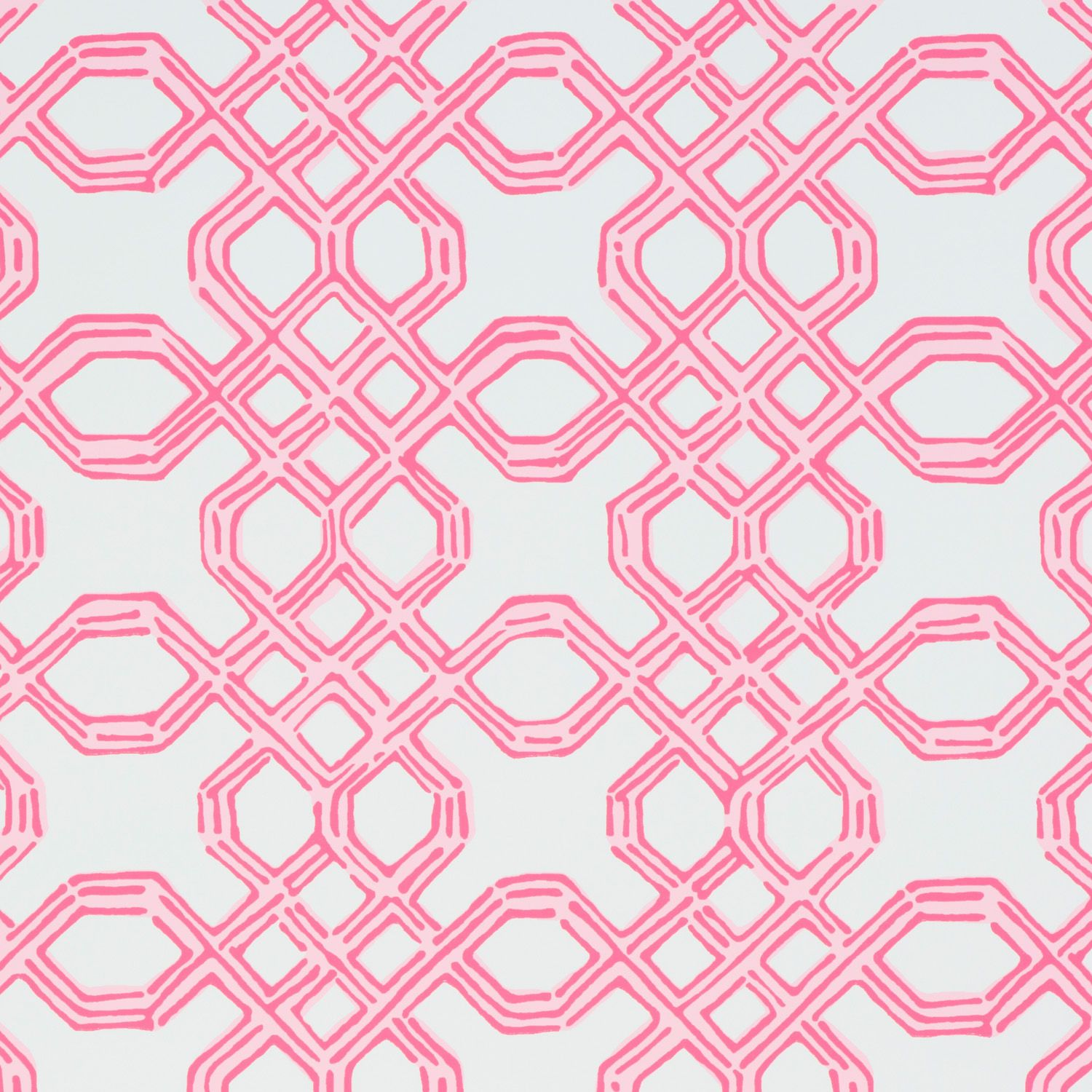 Well Connected Conch Pink Fabric wallpaper, Lilly
