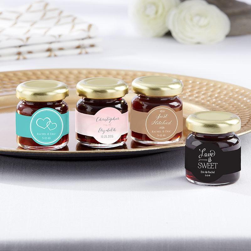 Personalized Strawberry Jam (Set of 12) - Wedding #personalizedweddingfavors
