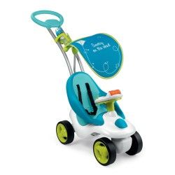 Smoby Bubble Go 2in1 Loopwagen - Blauw