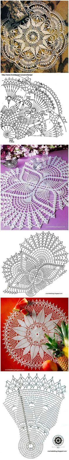 Luty Artes Crochet: Toalhas de crochê com gráficos.