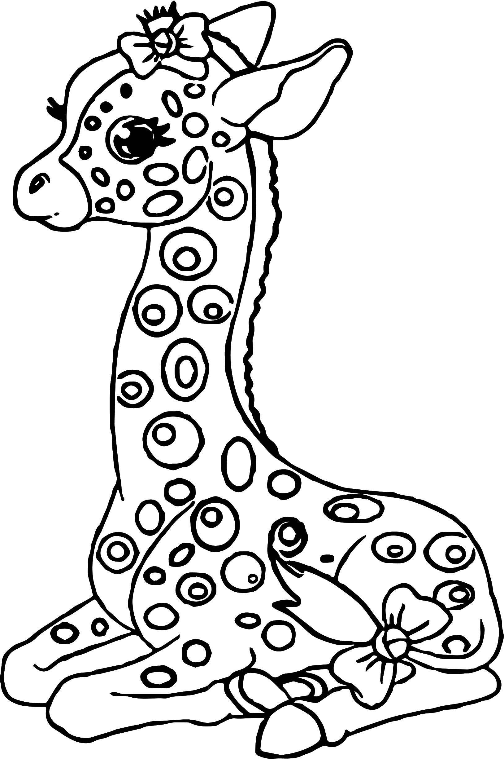 awesome Staying Kids Girl Giraffe Coloring Page | Giraffe ...