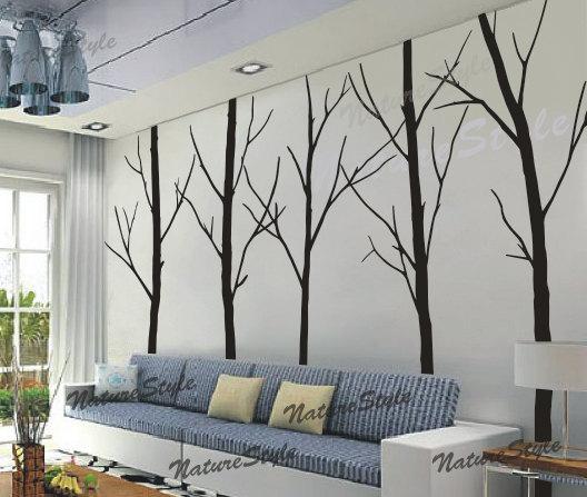 5c5eea1f94ed nursery decal trees wall decal winter trees vinyl wall decal baby room black  decal-5 Winter Trees. $87.00, via Etsy.
