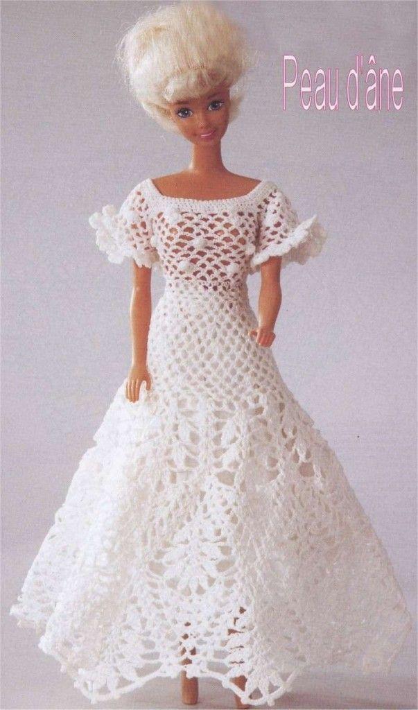 Modèle Tricot Crochet Gratuit Robe Barbie Poupée Häkeln Puppe