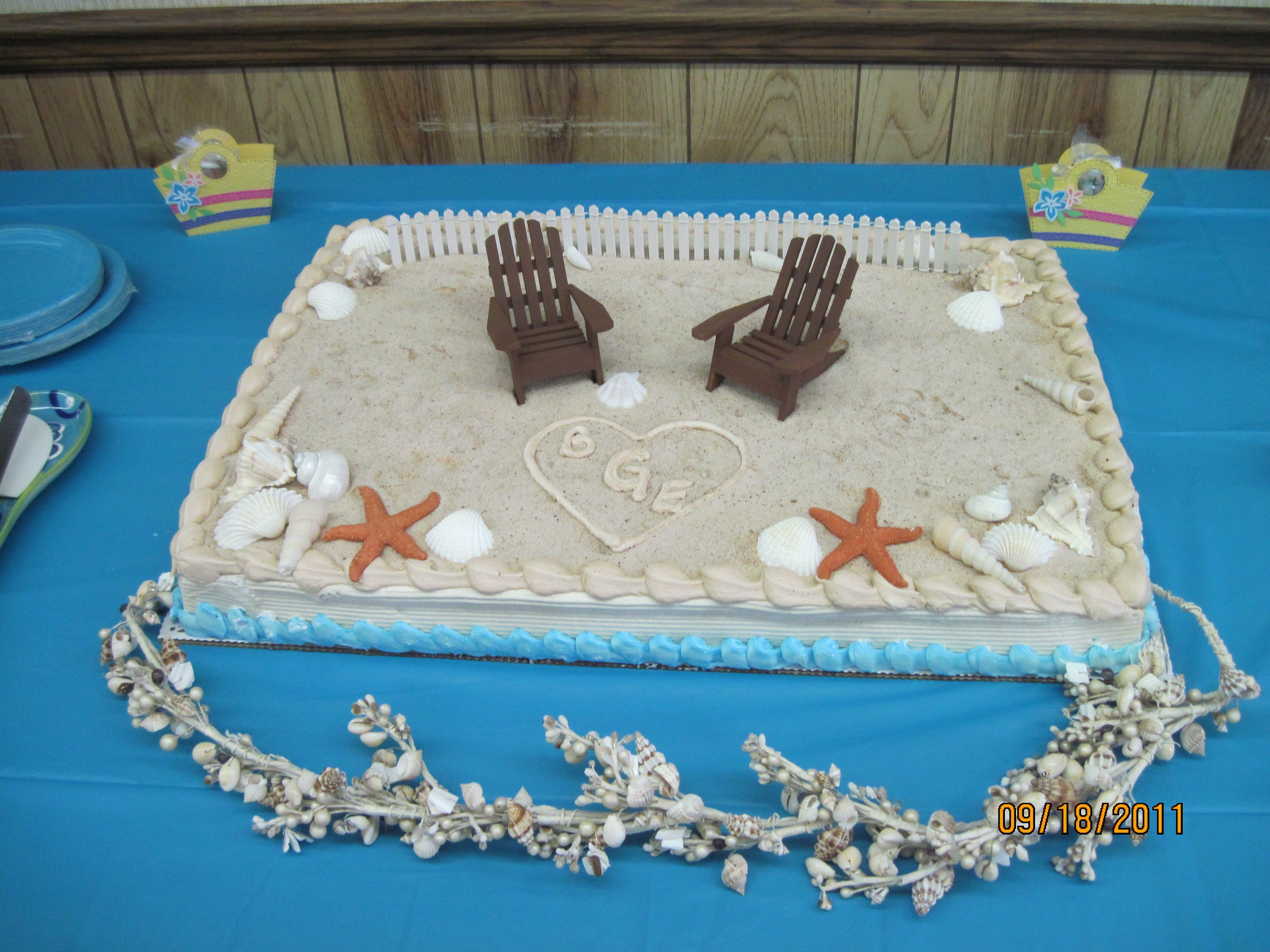 Beach Themed Wedding Sheet Cakes