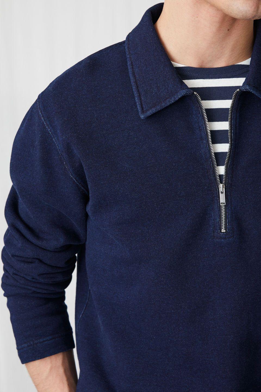 1e13c94c3a Indigo Half-Zip - Dark Blue - Underwear   Loungewear - ARKET BE in ...