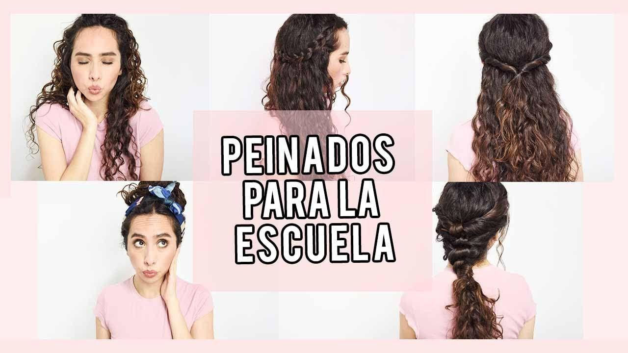 PEINADOS PARA LA ESCUELA CABELLO RIZADO/ONDULADO - PEINADOS PARA REGRESO A  CLASES 2018 - YouTube | Peinados para la escuela, Peinados, Peinados  sencillos