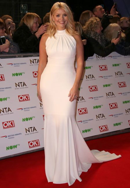 Holly Willoughby Looked Stunning A Simple White Dress Last Night Wenn